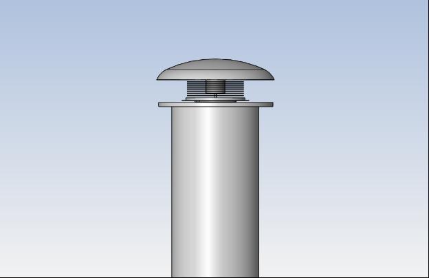 pilot scale solar chimney top