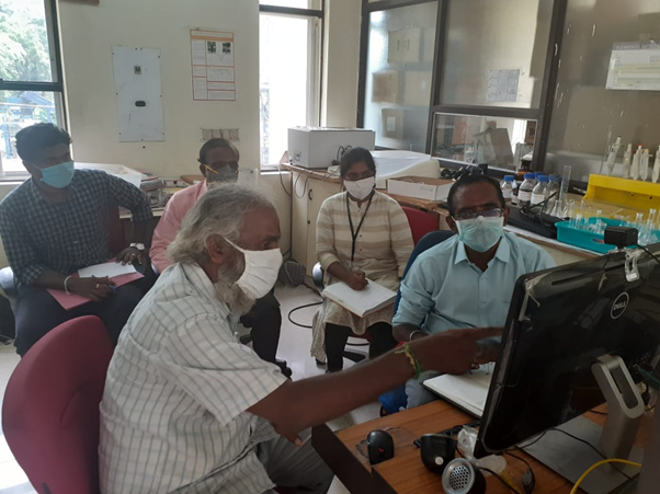 Online training sessions of pyrolysis unit